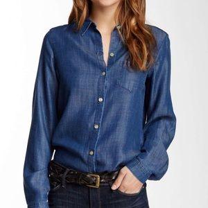 Foxcroft Nordstrom Tencel Long Sleeve Shaped Shirt